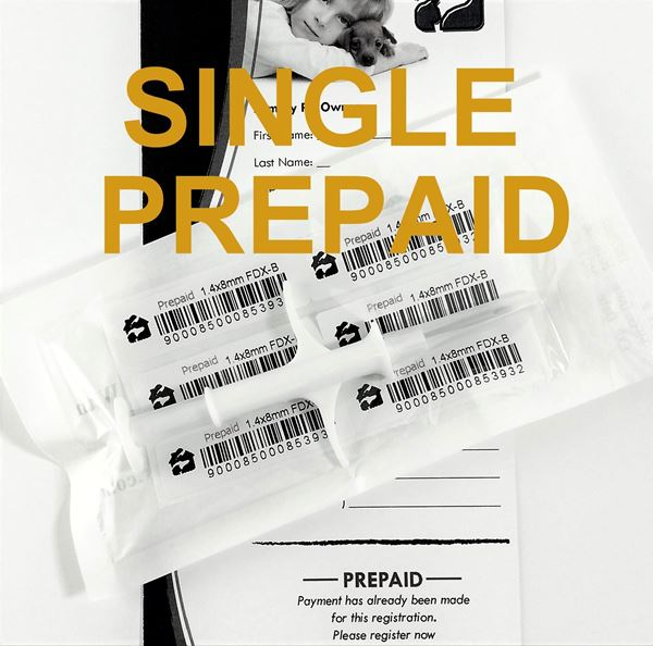 Picture of Single HBP Microchip with Prepaid Registration